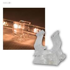 10er Pack Halteclips für Lichtschlauch, Befestigung, Halterung f Lichterschlauch