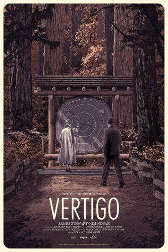 Vertigo Poster Screen Print Matthew Woodson Mondo Hitchcock Movie Limited Ed.