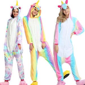 neu einhorn pyjamas kost m unisex jumpsuit tier schlafanzug erwachsene fasching ebay. Black Bedroom Furniture Sets. Home Design Ideas
