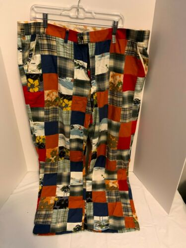 RARE Loud Mouth Golf WILD Quilted Plaid Golf PANTS