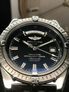 Breitling-Headwind-A45355-44mm-Swiss-Automatic-Day-Date-Black-Dial-Serviced-2020
