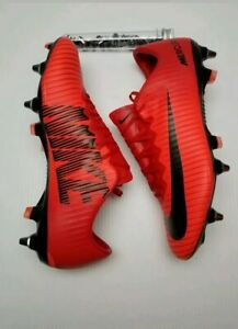 4d2bac6e10a5 New Nike Mercurial Vapor XI SG Pro Soccer Cleats Red Black 831941 ...