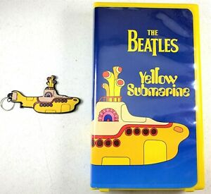 The-Beatles-Yellow-Submarine-VHS-Tape-1999-with-Vintage-Keychain