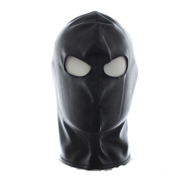 Quality PU Leather Gimp Eyes Open Mask Hood Fetish Bondage Restraint