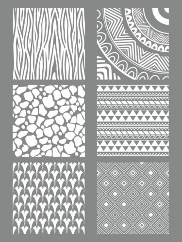 Stencil Silkscreen for Paste Polymer Ethnic