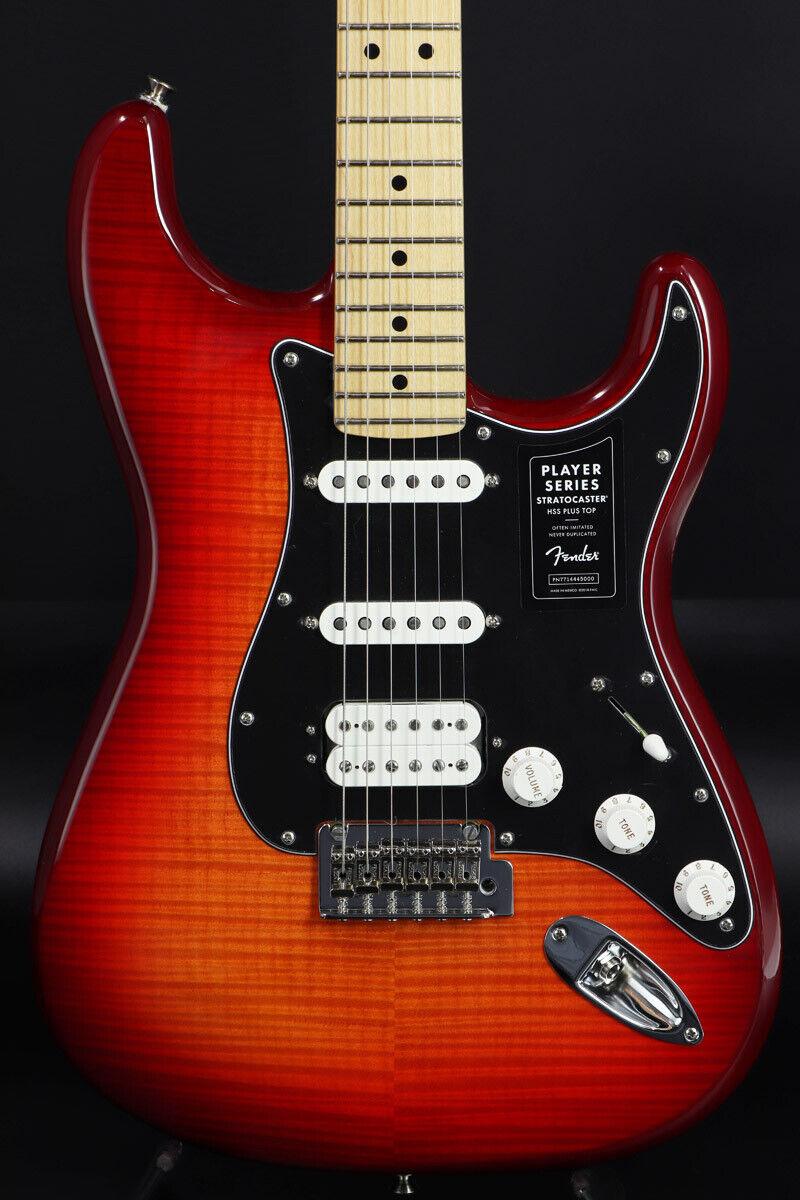 Fender Player Series Stratocaster HSS Plus Top Aged Cherry Burst rare EMS F S