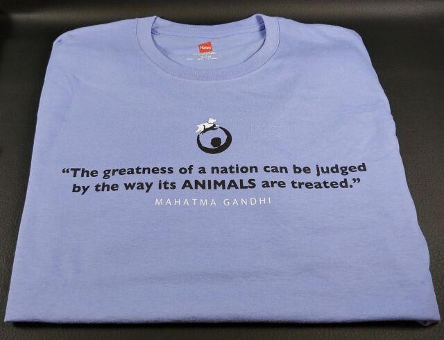 Gandhi Rally to Rescue T-Shirt Short Sleeve Unisex Men Women Lavender Hanes