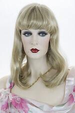 Light Golden Blonde Blonde Long Medium Skin Top Straight Wigs