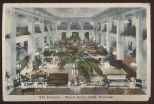 Postcard MONTREAL Quebec/CANADA  Mount Royal Hotel Rotunda Interior view 1910's