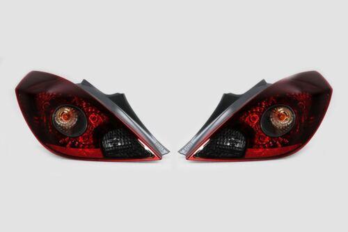 Vauxhall Corsa D 3 Door VXR SRI 06-10 Smoked Rear Tail Lights Set Pair OEM Valeo