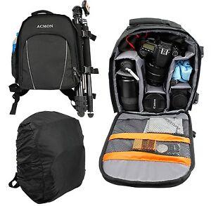 Super-PRO-DSLR-SLR-Camera-Rucksack-Case-Bag-Backpack-For-Canon-EOS-Digital-etc