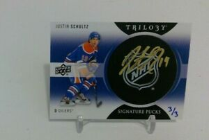 2013-14-Trilogy-Justin-Schultz-Rookie-Signature-Pucks-SSP-3