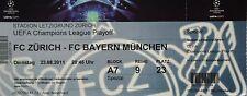TICKET UEFA CL 2011/12 FC Zürich - Bayern München