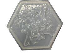 Decorative Roman Floral Plaque stepping stone concrete mold 7105 Moldcreations