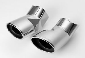 Range Rover Sport (2005-10) [diesel]- HAWKE Stainless Exhaust Tail Tips (chrome)