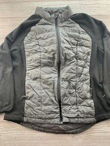*32 Degrees Heat Size XL Packable Down Puffer Coat Gray full zip jacket Womens