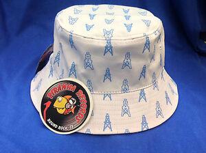 d6c016977b4be Baby Blue Oilers Printed White Full-Brim Bucket Hat ONE SIZE Piranha ...