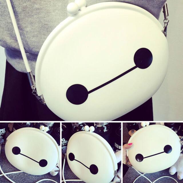 Fashion Big Hero 6 Baymax Robot Messenger Shoulder Bag Mini Silicone Wallet Bag