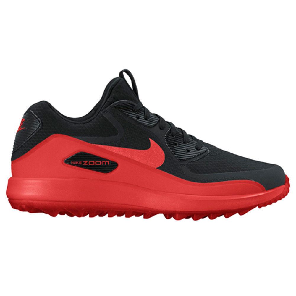 Nike Men's Air Zoom 90 IT Golf Shoe Black Max Orange sz 11.5 [844569 003]