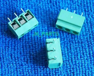 10pcs 5mm Pitch 3 pin 3 way Straight Pin PCB Screw Terminal Blocks Connector