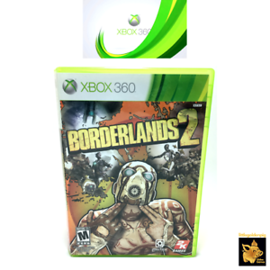 Borderlands 2 (2012) Xbox 360 Video Disc Game Case with Manual Tested & Works