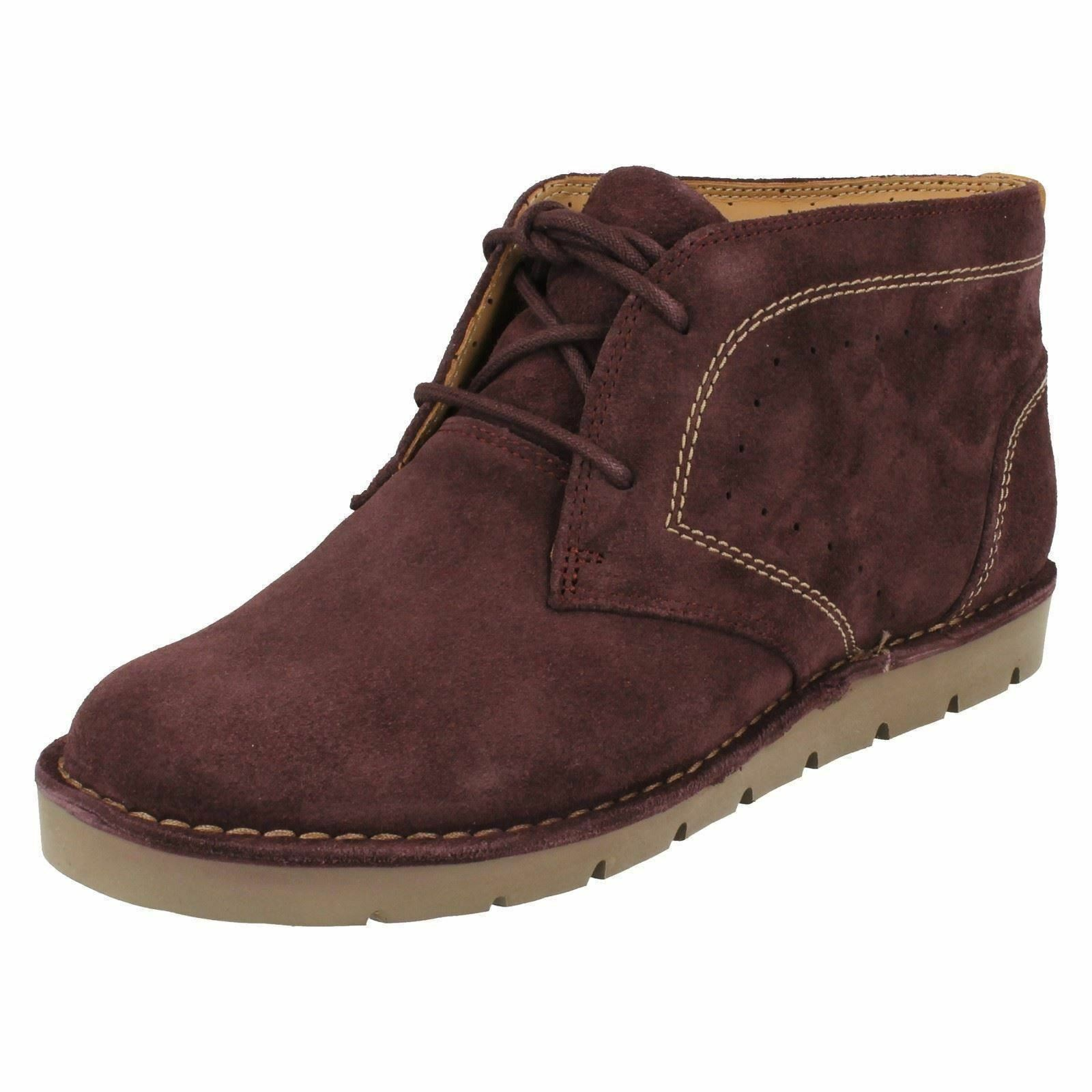 Ladies Clarks Unstructured Un Astin Astin Astin Suede Leather Casual Lace Up Ankle Boots a0ad28