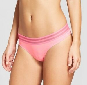 Xhilaration-Cotton-Sporty-Thong-2-Pack-Pink-with-Chevron-Print-and-Mesh-Band