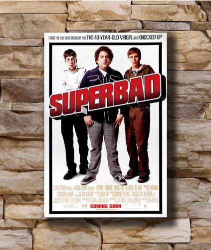 Hot SUPERBAD 2007 Classic Movie JONAH HILL MICHAEL CERA New Art Poster T-2120