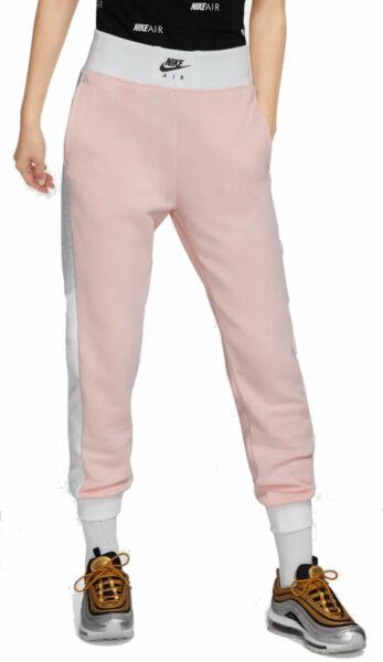 Nike Damen Trainingshose Fitnesshose Freizeithose W NK Air Pant pink weiss