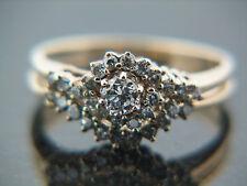 0.50 carat CZ's Wedding Set with interloking Bridal Engagement & weding band