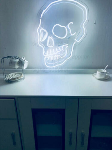 New Style Skull Skeleton Acrylic Neon Sign Gift Light Lamp With Dimmer