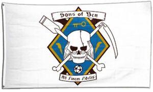 Fahne Pirat Sons of Ben Flagge Fan Hissflagge 90x150cm