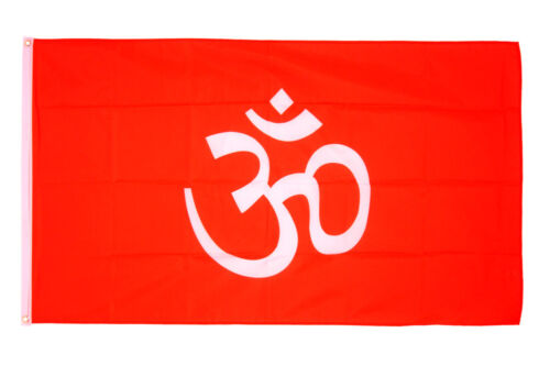 Hindu Flag 5 x 3 FT 100/% Polyester With Eyelets Banner Sign Hinduism
