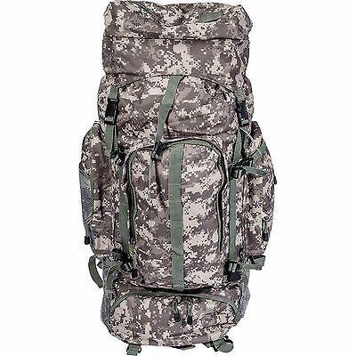 """34"""" Large Digital Camo Water Resistant Mountaineer Backpack Bug Out Bag Survival"""