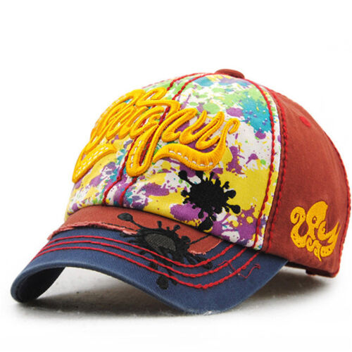 5 Colors Kids Baseball Cap Fashion Colorful Graffiti Casual Cotton Sports Hats