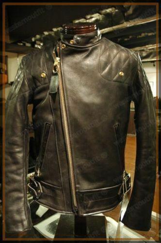 MJN071 New Genuine Lambskin Leather Jacket Motorcycle Biker Men/'s S M L XL