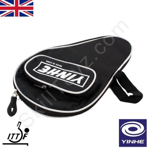 Yinhe table tennis bat doux rembourré étui zippé protéger votre ping pong raquette noir