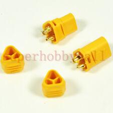 2Pairs RC PLANE  ESC Motor AMASS MT30 2mm 3pole Bullet Connector jack Plug Light