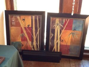 colorful bamboo framed art prints new vintage home interiors gifts