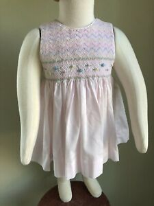 Details about NBW FRIEDKNIT CREATIONS Sz 6M Summer Smocked Dress & Diaper  Cover Free S/H Op