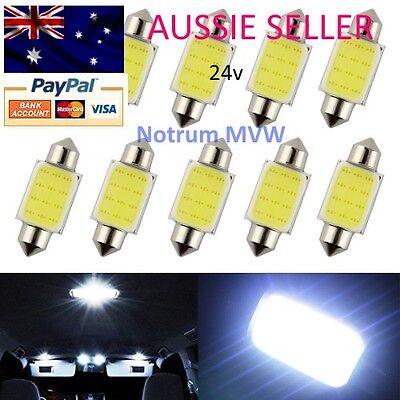 2x New 39mm C5W 4W Car COB LED License Plate Dome Festoon Light Bulb White