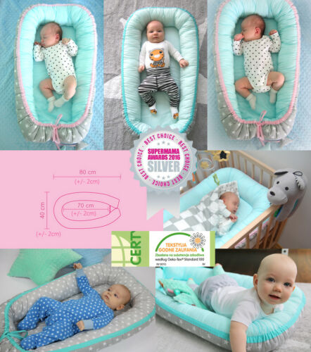 TS1 Kuschelnest Babybett Babynest Stillkissen Reisebett Bettkopfschutz Nestchen