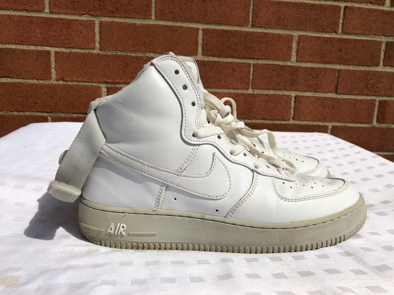 DS DS DS 2004 Nike Air Force 1 High White Gray 306351 111 size US 8.5 7c9545