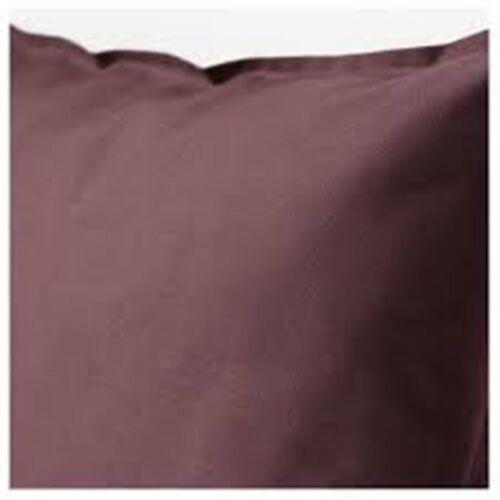 IKEA gurli HOUSSE DE COUSSIN 50 x 50 cm 100/% Coton Marron Foncé Rouge Nouveau
