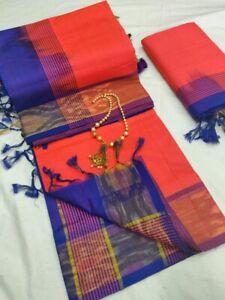 Indian-Traditional-woman-Kanchi-Handloom-silk-Cotton-saree-Bridal-Wedding