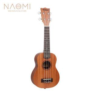 NAOMI-21-Inch-Soprano-Ukulele-4-Strings-Instrument-Mini-Acoustic-Guitar-NEW