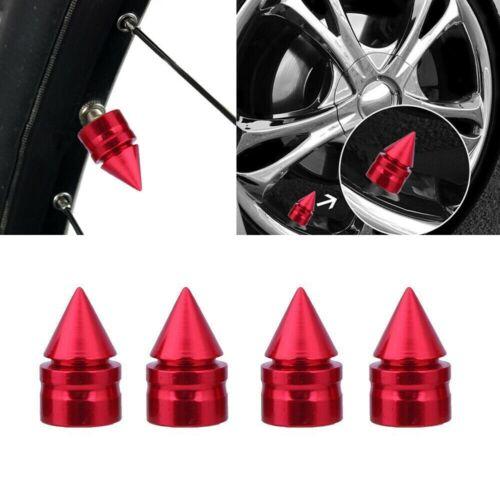 4 X ALUMINUM TIRE//RIM VALVE//WHEEL AIR PORT DUST COVER STEM CAP//CAPS BLACK