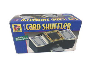 Vintage-PAVILION-AUTOMATIC-CARD-SHUFFLER-1-OR-2-DECKS-Great-Working-Shape-W-box