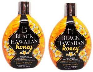 LOT-2-Brown-Sugar-BLACK-HAWAIIAN-HONEY-Tanning-Lotion-with-200X-Bronzer-13-5-oz