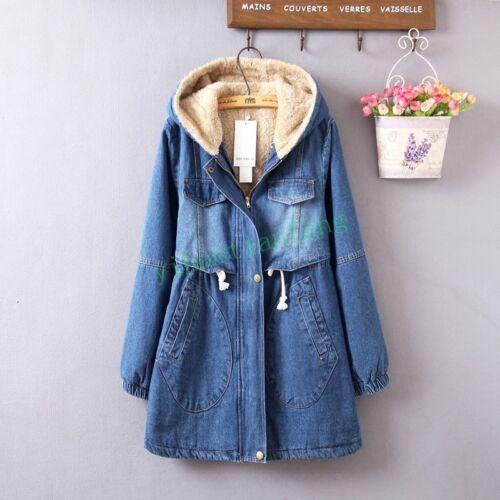 veste Manteau denim jeans décontracté coton capuche en femmes chauds mélange pour vêtements à chauds et de 44fw1q